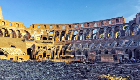 colosseum from inside Rome