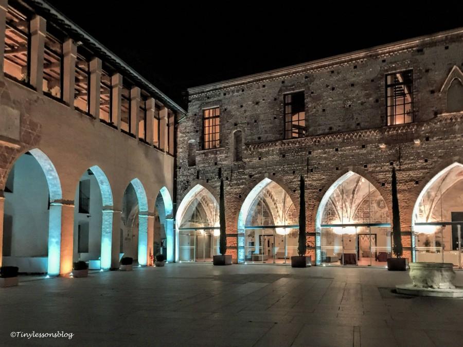 coutyard of Castello Visconteo Milan
