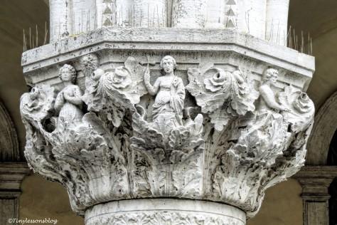 Detail of a pillar in Venice