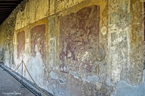 frescos in a house in Pompeii