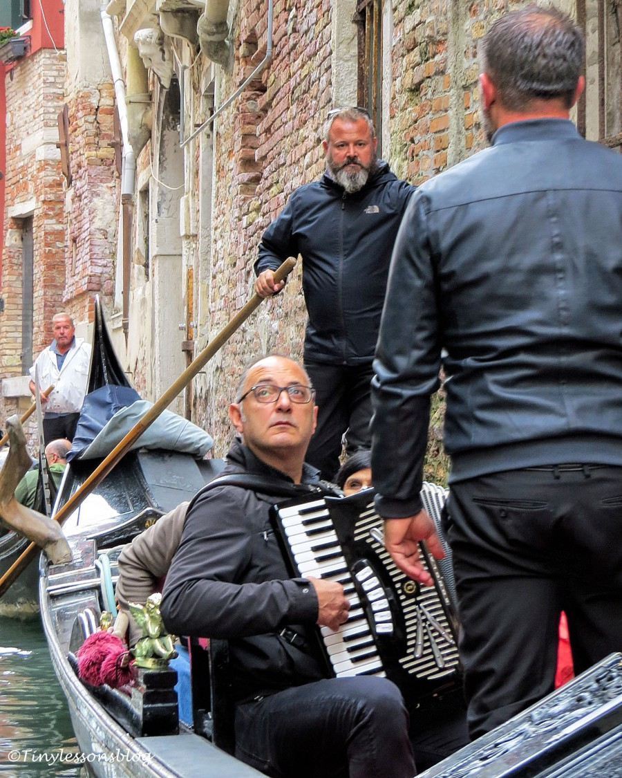 gondolier musician and solist in Venice