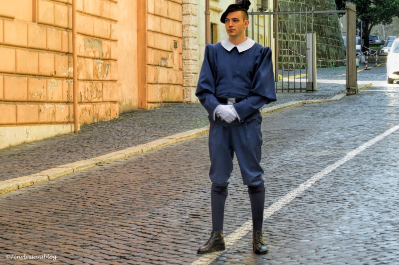 guard at Vatican Rome