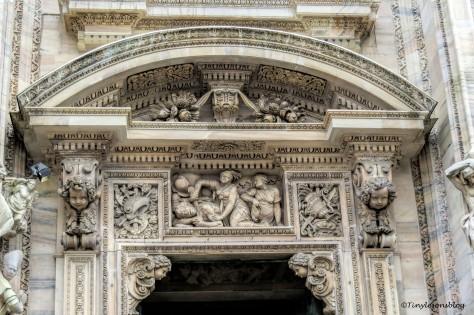 main entrance of the Duomo Milan