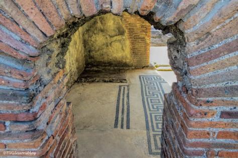 most recent house interior mosaic floor Pompeii