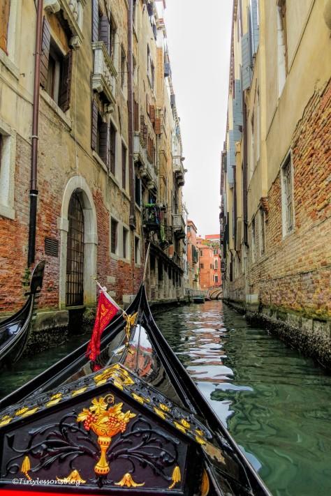 my gondola navigates in Venice