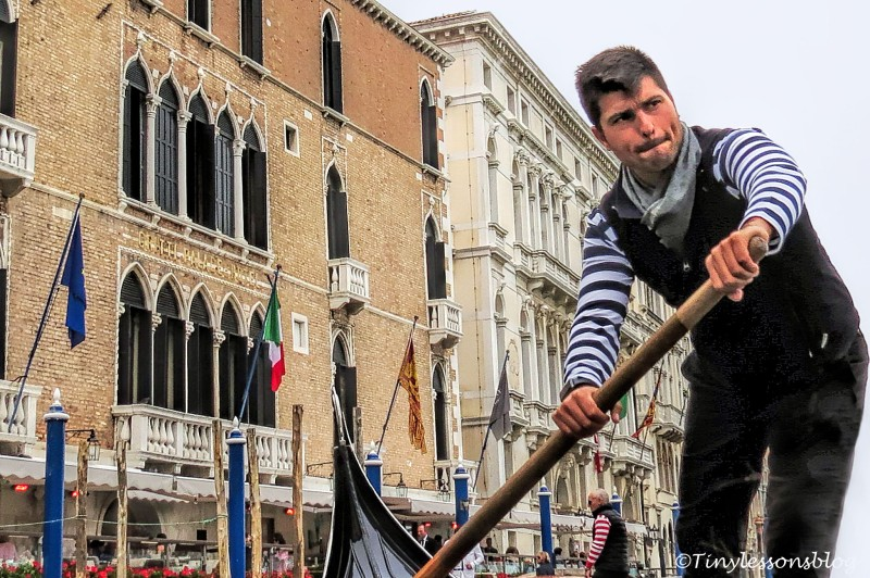 My gondolier in Venice