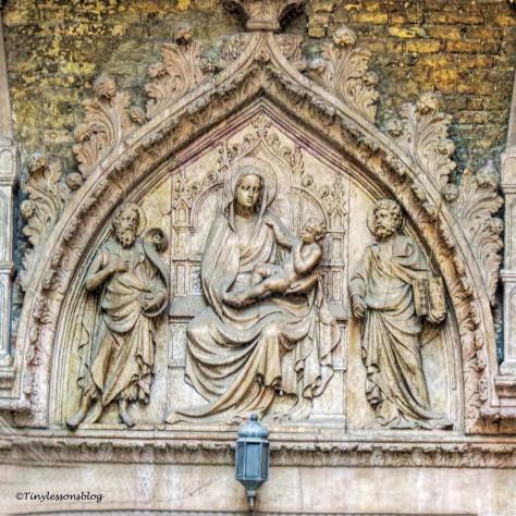 nativity scene at saint marks basilica in Venice