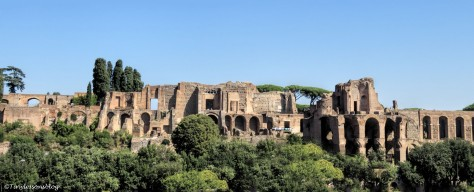 Panorama from behind the Roman Forum Rome