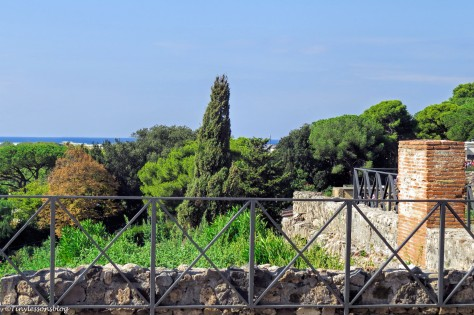sea view from the house garden Pompeii