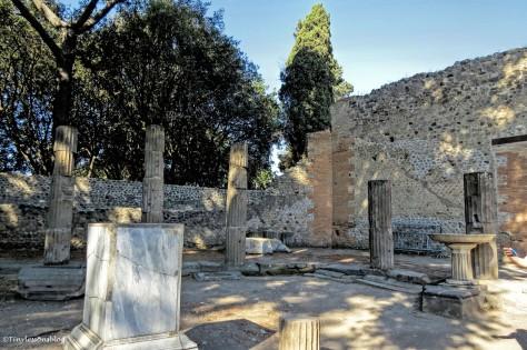 smaller forum in Pompeii