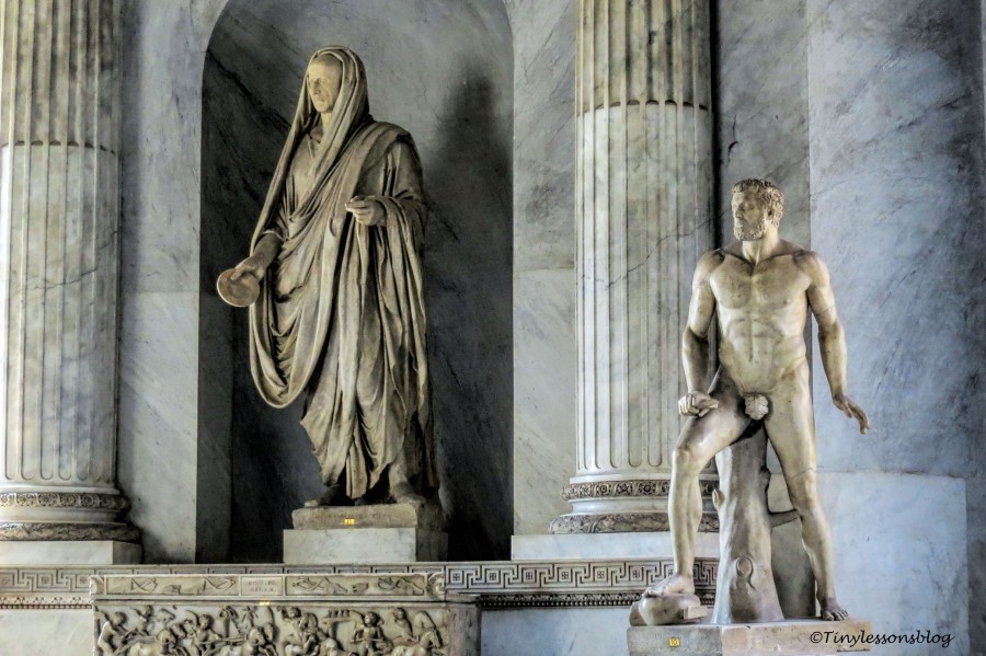 statues at vatican museum rome
