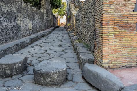 street and crosswalk in Pompeii