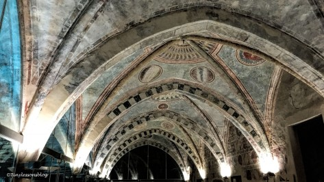 the ceiling of the hall in Castello Visconteo Milan