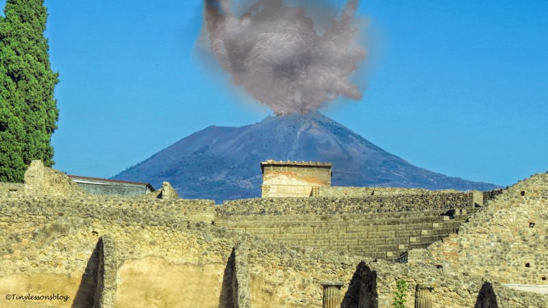 the eruption of Vesuvius starts Pompeii