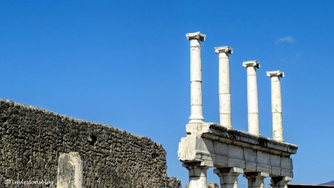 two story pillars at the Forum Pompeii