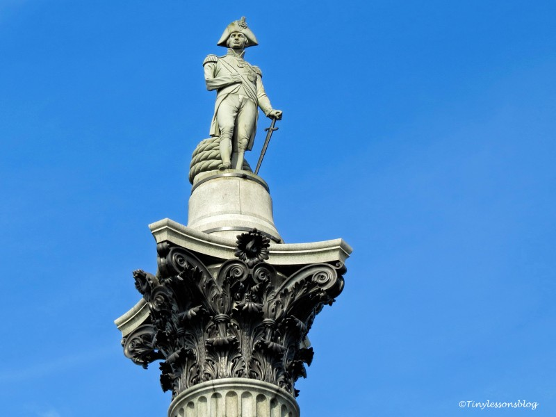 Nelsons Column in Trafalgar Square London UD142