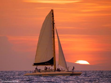 sailboat at sunset UD156