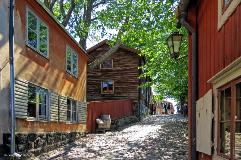 alley with old houses skansen ud166