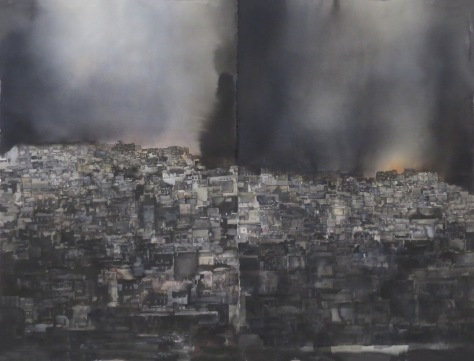 Lars Lerin city scape from Syria ud168